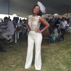 #ShareIG Happy girls are the prettiest!!! Jumpsuit and fascinator by @gertjohancoetzee, hair and make up by @nthatomashishi!! @lqpct 2015!! ☀️