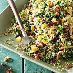 Mimic the look and texture of couscous by processing raw cauliflower in a food processor until crumbly./