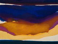 """desimonewayland: """" Gretchen Albrecht, Golden Cloud, 1973 Auckland Art Gallery Toi o Tāmaki """" Auckland Art Gallery, New Zealand Art, Nz Art, European Paintings, Colour Field, Large Art, Abstract Landscape, Abstract Art, Art Google"""