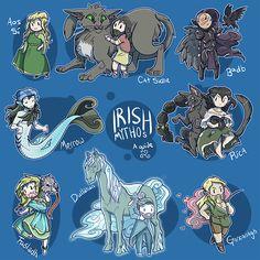 'Irish Mythos' Art Print by Victoria Courtney Mythical Creatures Art, Mythological Creatures, Magical Creatures, Irish Mythology Creatures, World Mythology, Celtic Mythology, Character Inspiration, Character Art, Minecraft Banner Designs