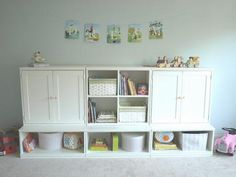 Even better cubby storage unit for play area.