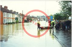 Floods of 1998 along London Road