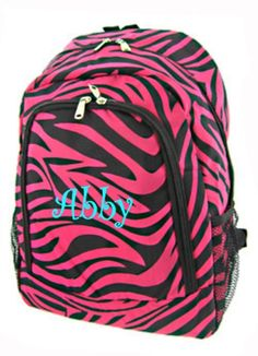World Traveler Backpack, Pink and Black Zebra Print Cheer Backpack, Backpack Purse, Top Backpacks, School Backpacks, Leopard Print Bag, Zebra Print, Lunch Tote, Pink Outfits, Black Trim