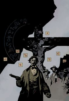 Witchfinder: Lost and Gone Forever cover by Mike Mignola Character Concept, Character Art, Concept Art, Character Design, Mike Mignola Art, Graphic Novel Art, Arte Cyberpunk, Comic Book Artists, Dark Fantasy Art