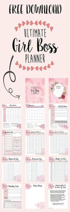 Free Planner Printables: Girl Boss & Coffee Stickers for Happy Planner # Stickers # . Planner 2018, Free Planner, Blog Planner, Planner Pages, Happy Planner, Printable Planner, Free Printables, Printable Quotes, Planner Ideas