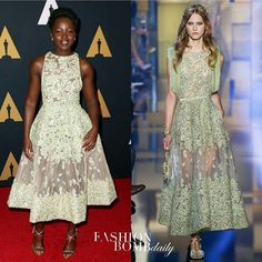 Actress @LupitaNyong'o attended the Academy of Motion Picture Arts and Sciences' 8th annual #GovernorsAwards in a gold floral embellished gown from @ElieSaabWorld's Fall 2015 Couture collection. Thoughts? #fashionbombdaily #instastyle #instafashion #lupitanyongo #eliesaab #celebritystyle #fashion #style #realstyle