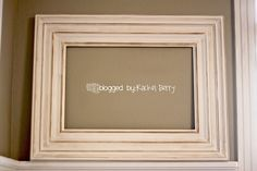 For the bathroom mirror, frame from baseboard and trim!