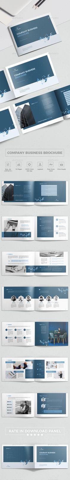 #Company Business Landscape Brochure - #Corporate #Brochures