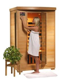 2 person infrared sauna with mp3 hookups