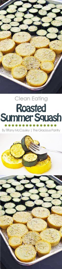 This Clean Eating Roasted Summer Squash Recipe is a delicious way to get more veggies in your day! (And keep up with a prolific, summer garden!) is part of Roasted summer squash - Roasted Summer Squash, Summer Squash Recipes, Roasted Squash, Summer Recipes, Healthy Cooking, Healthy Snacks, Healthy Eating, Healthy Dinners, Low Carb Recipes