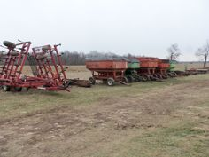 Lineup of farm equipment on 12/6/13.It was cold and windy this December Friday
