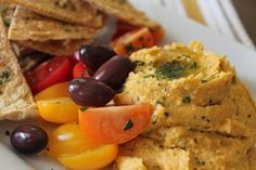 (makes 4 C of hummus) 4 C garbanzo beans, rinsed and dried 4 cloves fresh garlic, minced ½ t cayenne 1 t cumin 1 t paprika 1 ½ t salt 2 T fresh parsley, finely chopped ¼ C fresh squeezed lemon juic…