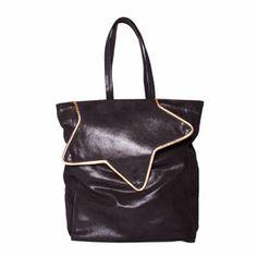 Star Tote Bag nero by Les Envers