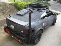 Zombie apocalypse off-road scion TC - Check more at http://oddstuffmagazine.com/20-wtf-moments-february-24-2015.html