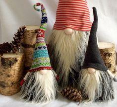 Swedish Scandanavian Tomte Nisse Gnome SANTA Elf Christmas decoration by DaVinciDollDesigns on Etsy https://www.etsy.com/listing/473518598/swedish-scandanavian-tomte-nisse-gnome