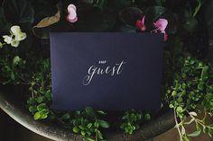 elegant envelope, photo by JBLT Photography http://ruffledblog.com/the-notwedding-athens-ii #stationery #weddinginvitations