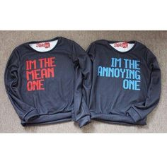 Best friend sweatshirts.