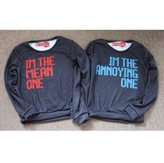 Best friend sweatshirts. Sarrriiiinaaaa omg the only probably is you're not annoying