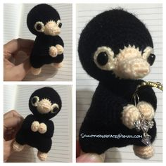 Niffler of Fantastic Beast and Where to find them Harry Potter Amigurumi by Sculpturingface