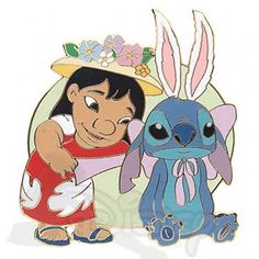 DISNEY PINS LILO & STITCH Easter Bunny LE 1000