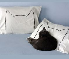 Cream Cat Nap Pillowcase Set #designwithhumour
