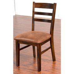 Sunny Designs Santa Fe Ladder Back Side Chair - Dark Chocolate