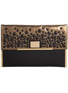 Here's what you should use to compliment that LBD. Dorothy Perkins black embellished #clutch #accessories #bags