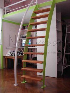 Escala a tu segundo piso - Escaleras espacios reducidos curva