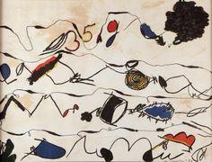 Lote: 35003676, GUINOVART BERTRAN, Josep (Barcelona, 1927 – 2007).  Sin título, 1986.  Litografía, ejemplar 66/500.  Firmada y fechada en plancha. Numerada a mano.  Medidas: 47 x 62 cm; 61 x 77 cm (marco).
