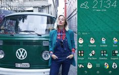HTC One Themes Levi's overall vintage jacket