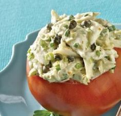 Creole Tomatoes Stuffed with Crabmeat Salad
