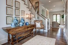 Southern living design housebehind the scene - providence design foyer f Modern Country, Country Style Homes, Country Decor, French Country, French Farmhouse, Rustic Decor, Modern Farmhouse, Farrow Ball, Porches