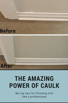 The amazing power of caulk! Tips for installing and finishing trim diy home improvement How to caulk trim: the amazing power of caulk Easy Home Decor, Cheap Home Decor, Home Repairs, Home Improvement Projects, Home Improvements, Home Decor Accessories, Home Renovation, Living Room Designs, Modern Kitchens