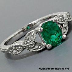 awsome emerald engagement ring - My Engagement Ring