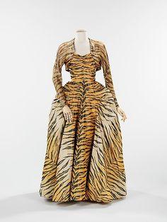 Enemble  Gilbert Adrian, 1949  The Metropolitan Museum of Art - Incredible 'tiger' print gown.