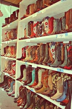 Every southern girls dream. You can never have too many boots.