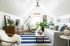 Majestic Attic remodel with dormers,Attic renovation uk and Brady bunch attic bedroom episode. Chic Beach House, Beach Cottage Style, Attic Renovation, Attic Remodel, Nantucket, Living Room Decor, Living Spaces, Dining Room, Cap Ferret