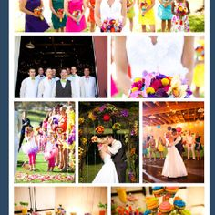 Adorable color themed wedding