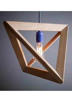geometrik Ahşap Lamba
