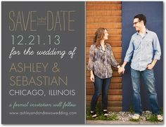 Chalkboard Special - Save the Date Postcards - simplyput by Ashley Woodman - Slate - Gray : Front
