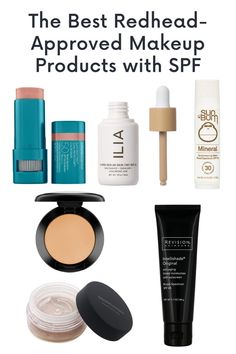 Makeup WITH SPF! Redhead Makeup, Broad Spectrum Sunscreen, Beauty Advice, Tinted Moisturizer, Fair Skin, Beauty Full, Red Hair, The Balm, Eyeshadow