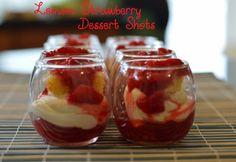 Recipe: Lemon Strawberry Dessert Shots | Black and Married With Kids.com - A Positive Image of Marriage and Family