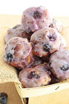 Baked Blueberry Fritter Bites | Recipe