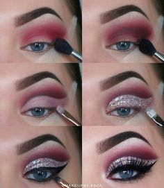 Step by step eyeshadow for an awesome makeup look. Use thus puctorial like a makeup tutorial to creat this look. Step by step eyeshadow for an awesome makeup look. Use thus puctorial like a makeup tutorial to creat this look. Makeup Goals, Makeup Inspo, Beauty Makeup, Hair Makeup, Makeup Ideas, Makeup Guide, Makeup Hacks, Makeup Kit, Makeup Geek