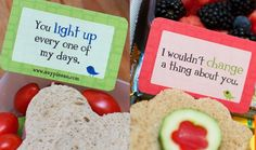 Love these Love Notes to pack in kids lunch boxes or suitcases.  These could be used in so many ways -- get creative...Let's see, I think I'll put one on Bennie's pillow tonight.  :)