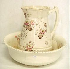 Victorian Transfer Bowl & Pitcher