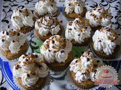 Diós tejszínes muffin