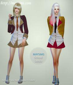 Mayims: TS4 Items - May_TS4_SchoolLooks