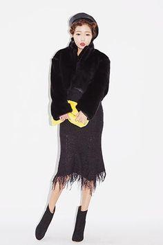 All-Black Tasseled Silhouette Skirt