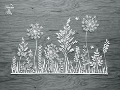 COMMERCIAL USE Meadow Design Papercutting by TommyandTillyDesign